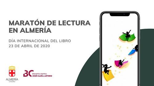 Más de un centenar de lectores en la maratón del Día del Libro de Almería