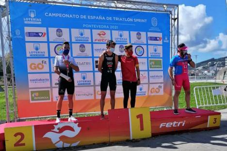 Purchena celebra el triunfo de García Rubio en el campeonato de España de Paratriatlón