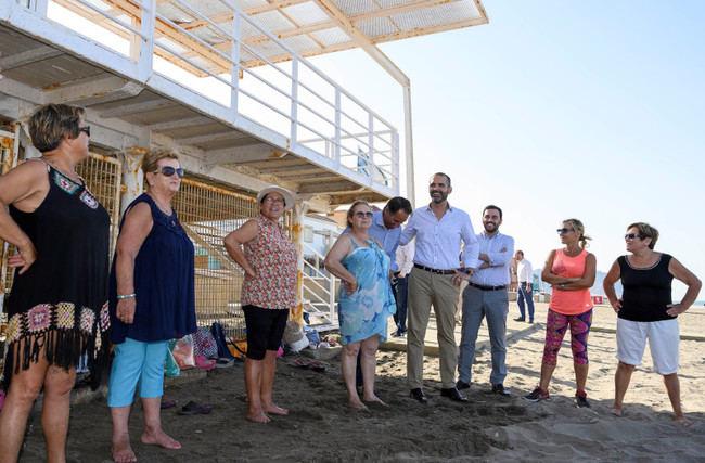 El programa de verano convierte las playas en 'gimnasios' para mayores