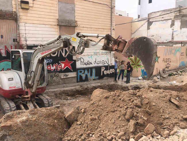 Se reanudan bajo control arqueológico las obras de la calle Pósito