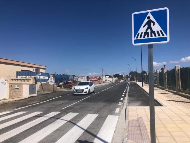 Restablecido el tráfico sobre el tramo remodelado de la carretera entre El Alquián y el aeropuerto