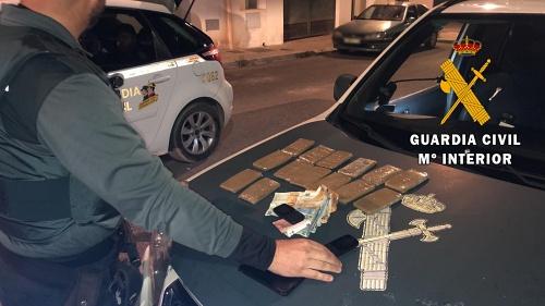 Dos detenidos en Níjar con14 tabletas de hachís en un control #COVID19