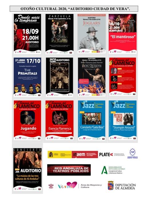 El Ayuntamiento de Vera presenta su programación cultural para el otoño