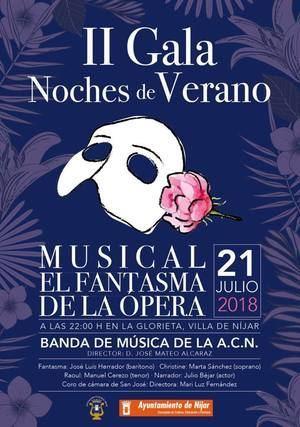 """Níjar saca a la calle """"El Fantasma de la Ópera"""" la noche del sábado 21 de julio"""