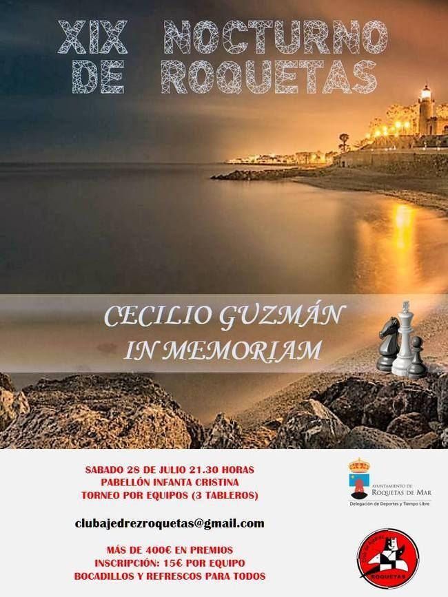 Todo listo para el XIX torneo nocturno del club de ajedrez de Roquetas