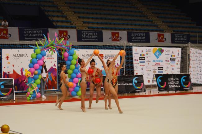 Costarítmica comienza sus clases para preparar a las gimnastas de Almería