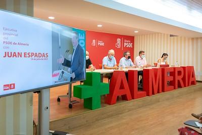 Encuentro de Espadas con la Ejecutiva 'susanista' del PSOE de Almería