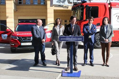 Tres nuevos vehículos para el Parque de Bomberos del Poniente