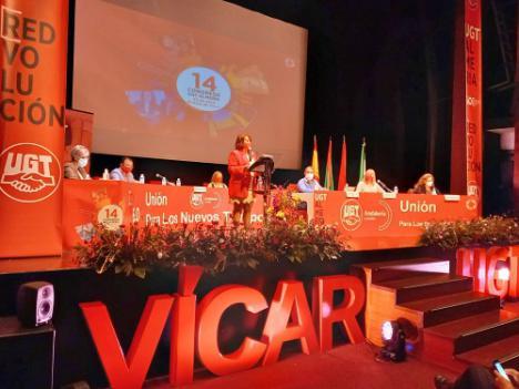 Carmen Vidal es reelegida al frente de la UGT Almería