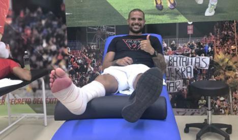 Nano ya está en Almería para iniciar en breve la recuperación de su lesión