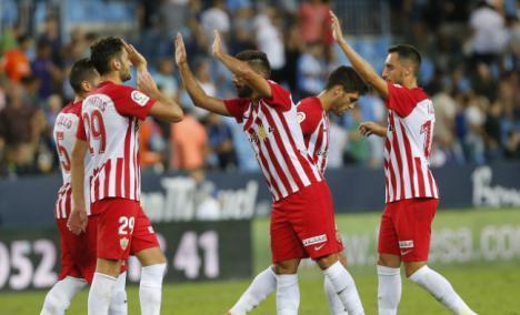 1-2: El Almería logra la primera victoria de la temporada en la Copa del Rey