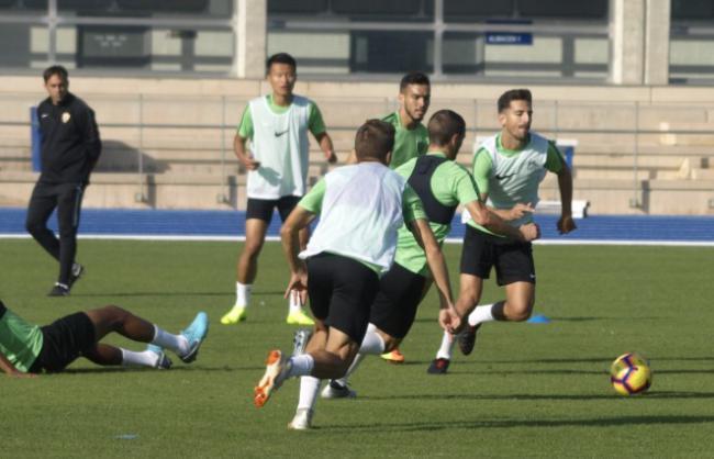 El Almería comienza la preparación específica para el partido de Granada