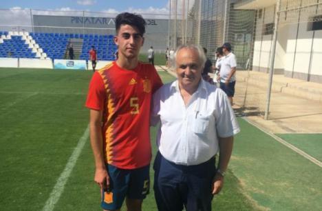 Destacada actuación de Mario Mañas con la selección española sub-17