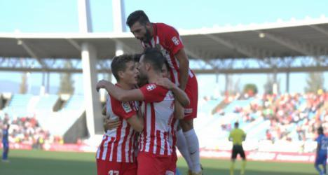 2-0: El Almería se supera al lograr el tercer triunfo consecutivo en la Liga