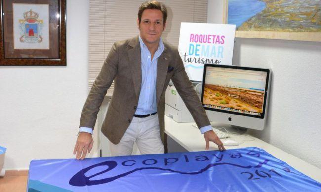 Roquetas es líder en España en banderas Ecoplayas