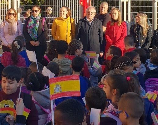 La delegada de Educación en los actos del CEIP Blas Infante de Vícar en el Día de la Constitución