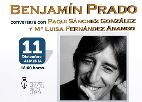 Benjamín Prado en el encuentro de clubes de lectura de Almería