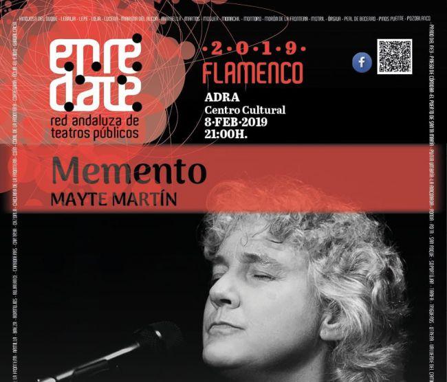 La cantaora Mayte Martín presenta en Adra su espectáculo 'Memento'
