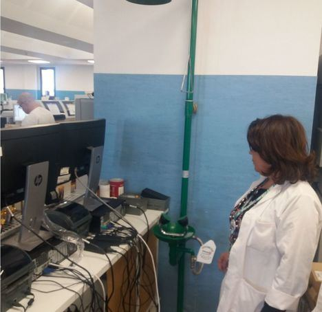 El SAS pone duchas sobre los ordenadores en Torrecárdenas