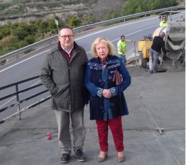 El director provincial del SEPE visita las obras del PFEA de Castro de Filabres, Cantoria y Bentarique