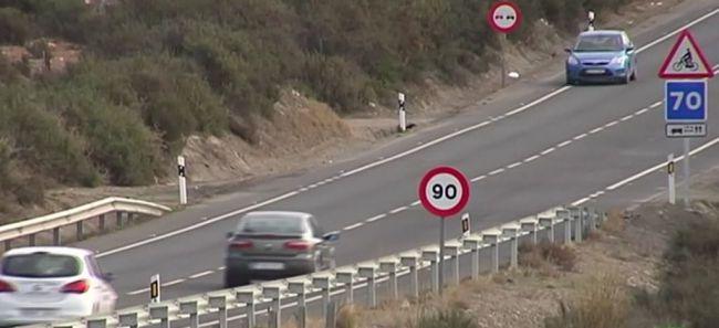 Detenido por circular a casi 200 Km/h en una vía señalizada a 90 Km/h