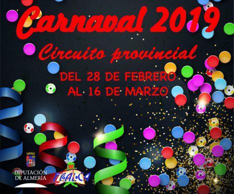Diputación acerca la tradición carnavalesca a 24 municipios de la geografía almeriense