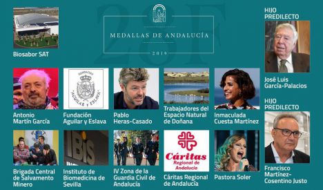 El BOJA publica las distinciones de Hijo Predilecto y las Medallas de Andalucía 2019
