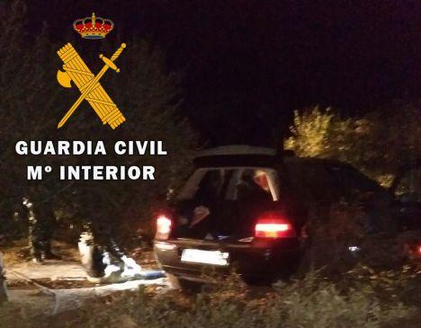 Acelera para atropellar a unos guardias civiles y se estrella en unos olivos