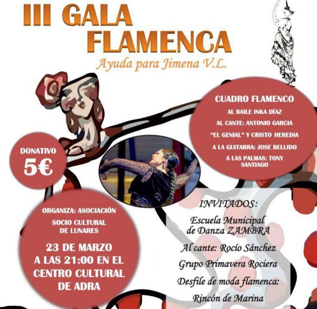 III Gala Flamenca solidaria en beneficio de Jimena en el Centro Cultural de Adra