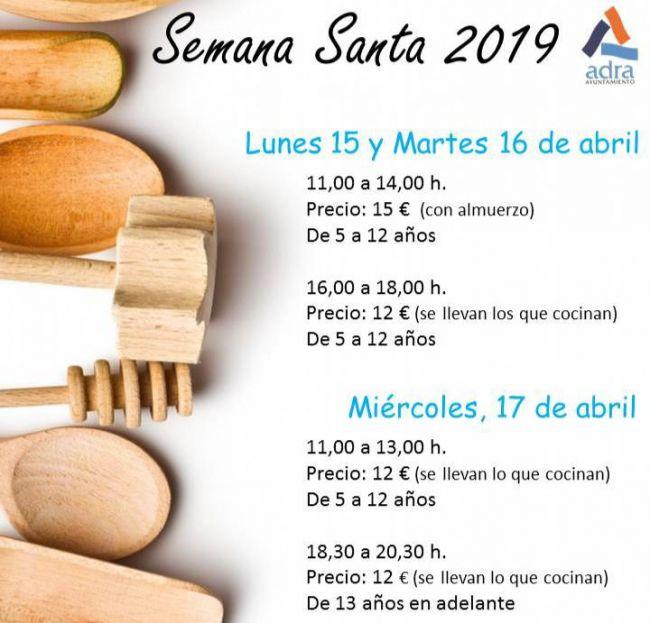 Cocina de Semana Santa para los más pequeños en Adra