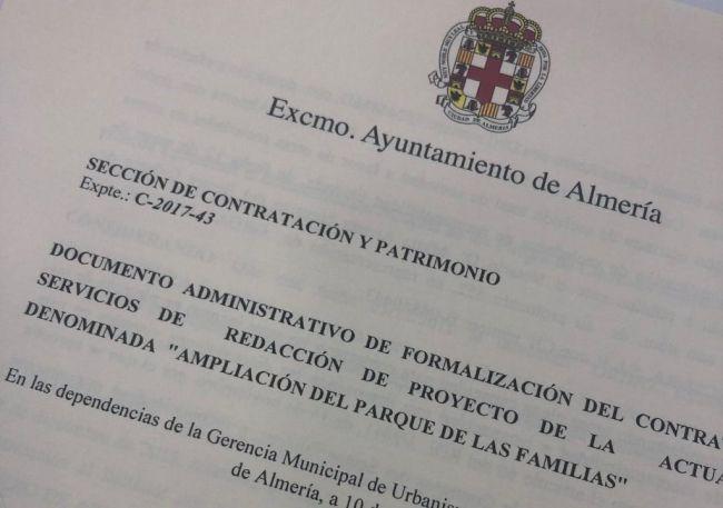 Firmado el contrato para la redacción del proyecto de la segunda fase del Parque de las Familias