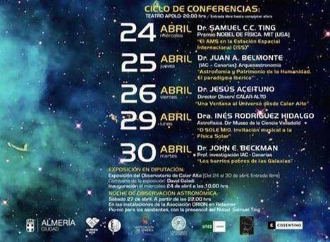 Almería será capital del conocimiento del cosmos con las VIII Jornadas Astronómicas