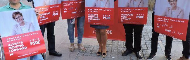 El PSOE es el único partido que ha hecho carteles en varios idiomas