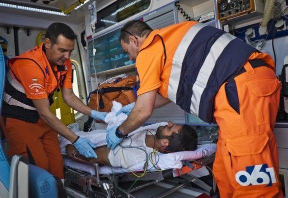 Fallece un motorista al chocar con un turismo en Aguadulce