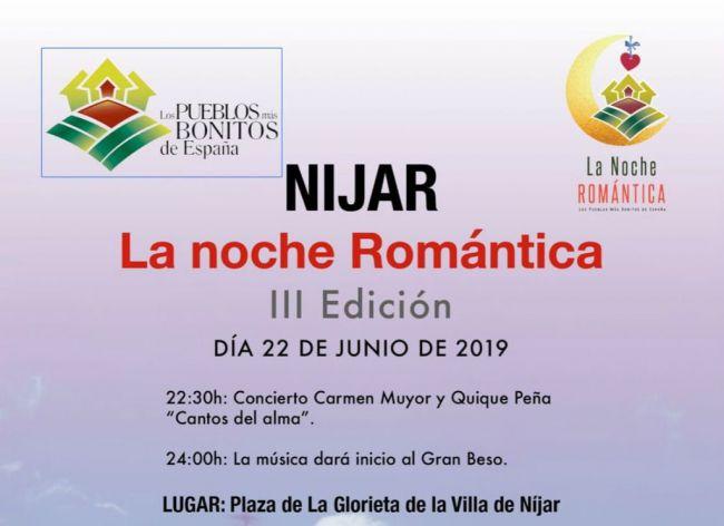 Níjar se suma este año a la Noche Romántica y al beso más bonito del mundo