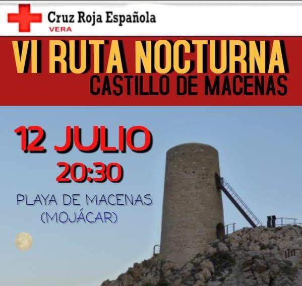 Cruz Roja Vera organiza la VI Ruta Nocturna de Senderismo - Castillo de Macenas