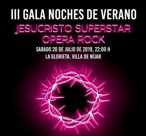 """La Ópera Rock """"Jesucristo Superstar"""" llega a la III Gala de Noches de Verano de Níjar"""