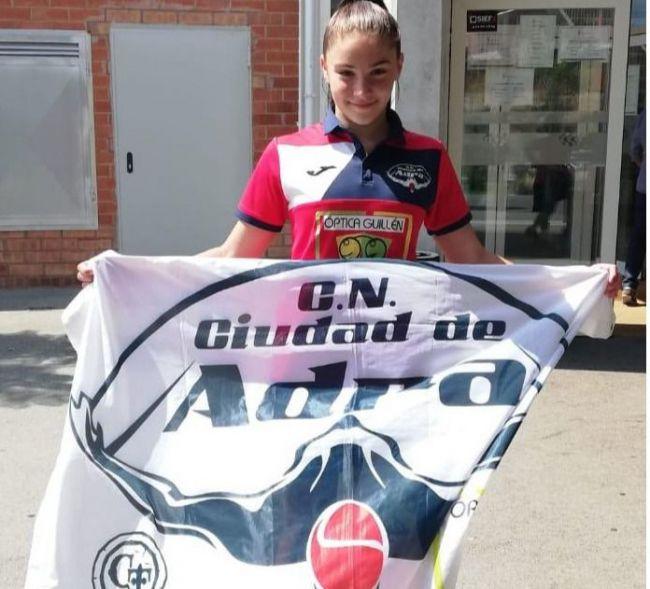 La abderitanta Natalia Padilla mejora sus tiempos en el VII Campeonato de España Alevín