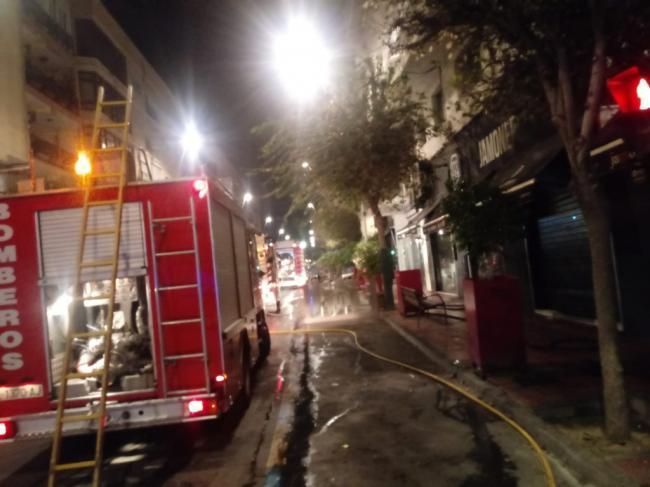 Asistidas por intoxicación por humo dos personas tras el incendio de un restaurante en Gregorio Marañón