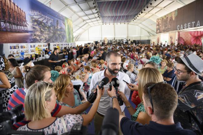El alcalde anima a los almerienses a disfrutar este lunes de la Feria más inclusiva