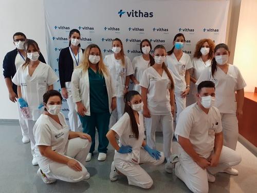 Estudiantes almerienses completan su formación con prácticas en Vithas Almería