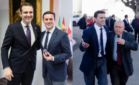 La primera visita institucional del presidente de la Diputación es al municipio más pequeño y al más grande