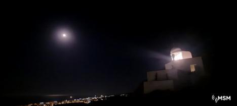 El Faro de Mojácar realiza con éxito las pruebas de alcance de iluminación