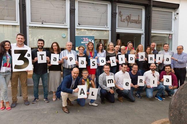 Un brindis por la gastronomía de Almería da inicio a la 3º Ruta de la Tapa Solidaria