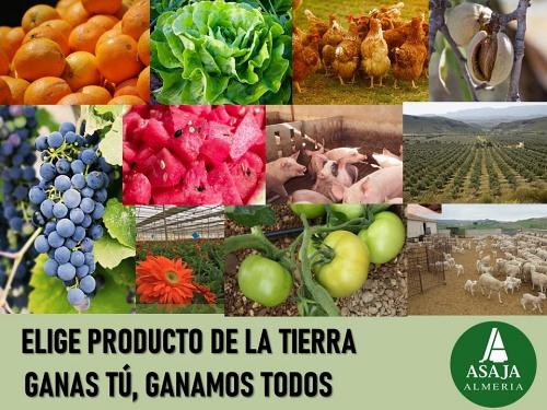 Asaja lanza una campaña para el consumo de productos almerienses