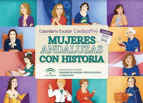 Carmen de Burgos y Amalia López entre las 12 andaluzas de calendario de coeducación