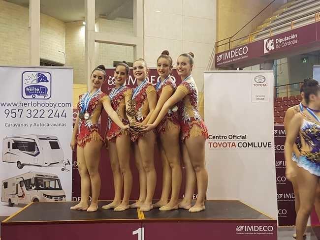 El Club de Gimnasia Rítmica de Vera representó a Almería en Córdoba