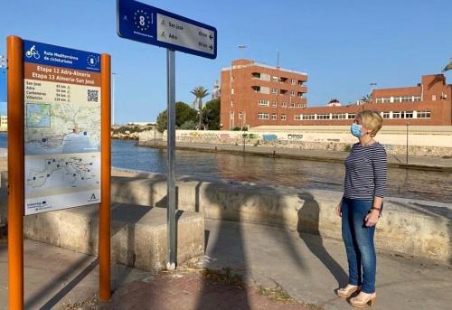 La Junta señaliza en Almería un tramo de 100 kilómetros de EuroVelo 8