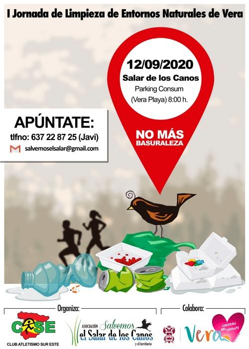 El 12 de septiembre será la primera jornada de limpieza en el Salar de los Canos de Vera