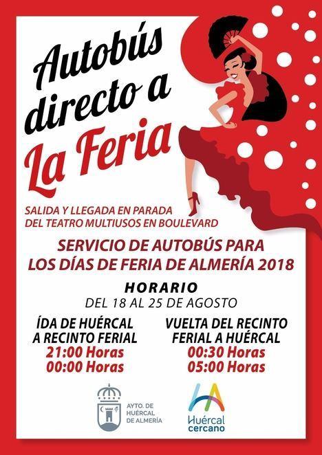 Huércal se va a la Feria de Almería en autobús